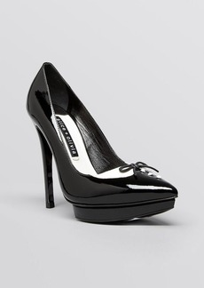 Alice + Olivia Pointed Toe Platform Pumps - Daniel Tuxedo High Heel