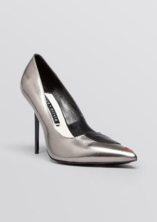 Alice + Olivia Pointed Toe Pumps - Josie Face High Heel