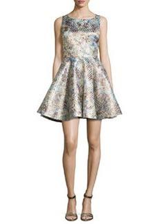 Alice + Olivia Port Metallic Full-Skirt Party Dress