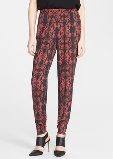 Alice + Olivia Print Zip Detail Track Pants