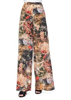 Alice + Olivia Printed Super-Flare Pants