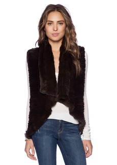 Alice + Olivia Rabbit Fur Vest