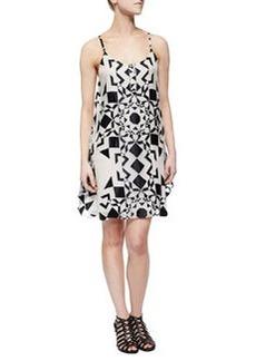 Alice + Olivia Rhi Printed Tiered Tank Dress