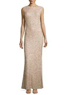 Alice + Olivia Sachi Sleeveless Embellished Gown