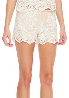 Alice + Olivia Scalloped Lace Shorts