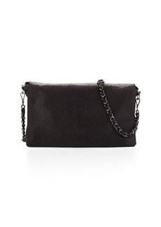Alice + Olivia Scarlet Crossbody Leather Satchel Bag, Black