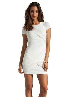 Alice + Olivia Short Sleeve Goddess Dress in White