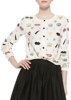 Alice + Olivia Stacey Must Have Beaded Cardigan