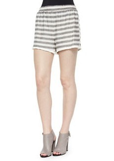 Alice + Olivia Striped Slub Pull-On Shorts