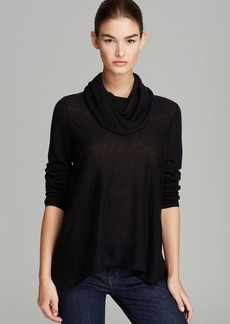 Alice + Olivia Sweater - Draped Cowl Wool-Cashmere