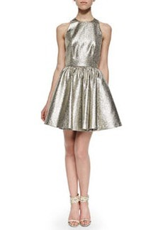 Alice + Olivia Tevin Shimmery Racerback Party Dress