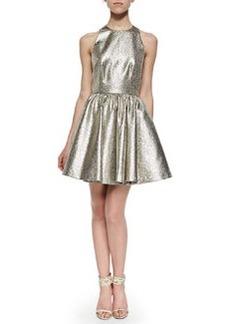 Alice + Olivia Tevin Shimmery Racerback Party Dress
