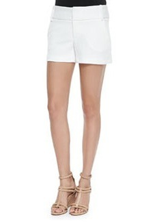 Alice + Olivia Textured Cady Structured Shorts