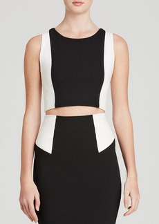 Alice + Olivia Top - Seamed Color Block Fitted Crop