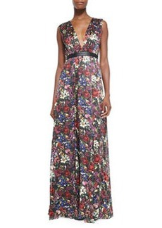 Alice + Olivia Triss Floral-Print Maxi Dress with Cutout Back