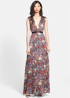 Alice + Olivia 'Triss' Print Hammered Silk Maxi Dress