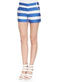 Alice + Olivia Wide-Stripe Signature Cady Shorts