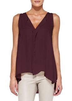 Avon Draped Sleeveless Silk Blouse   Avon Draped Sleeveless Silk Blouse