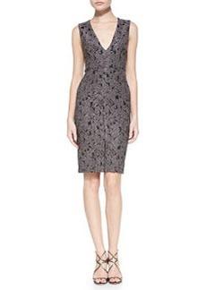 Baylee Embroidered V-Neck Fitted Dress   Baylee Embroidered V-Neck Fitted Dress