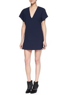 Bema V-Neck Crepe Tunic Dress   Bema V-Neck Crepe Tunic Dress