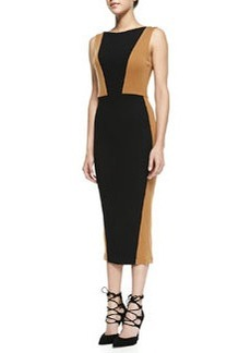 Blaze Colorblock Knit Midi Sheath Dress   Blaze Colorblock Knit Midi Sheath Dress