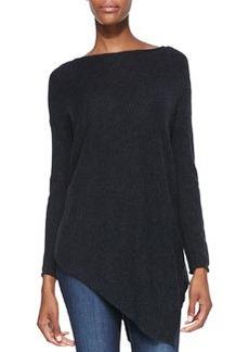 Boat-Neck Asymmetric Knit Sweater   Boat-Neck Asymmetric Knit Sweater