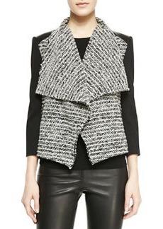 Burma Jacket With Leather Detail   Burma Jacket With Leather Detail
