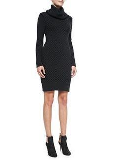 Chunky Turtleneck Long-Sleeve Dress   Chunky Turtleneck Long-Sleeve Dress