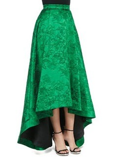 Cohe Embroidered High-Low Long Skirt   Cohe Embroidered High-Low Long Skirt