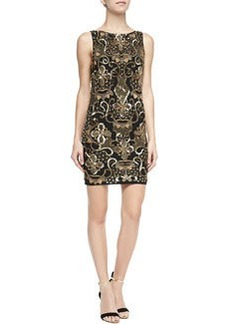 Alice + Olivia Demie Beaded Scoop-Back Dress