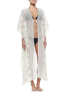 Edna Swiss-Dot/Lace Tie Coverup   Edna Swiss-Dot/Lace Tie Coverup