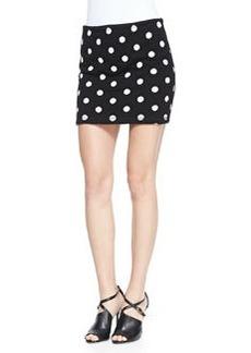 Elana Dotted Slim Miniskirt   Elana Dotted Slim Miniskirt