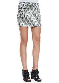 Elana Tweed-Print Miniskirt   Elana Tweed-Print Miniskirt