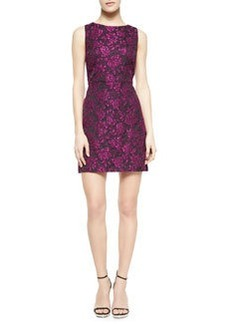 Eli Floral-Jacquard Sleeveless Dress   Eli Floral-Jacquard Sleeveless Dress