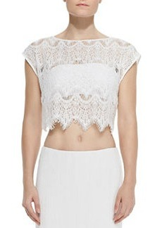Farrell Cropped Lace Coverup Top   Farrell Cropped Lace Coverup Top