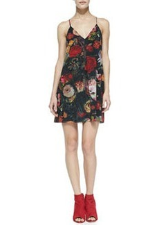 Fierra Floral-Print Chiffon Dress   Fierra Floral-Print Chiffon Dress
