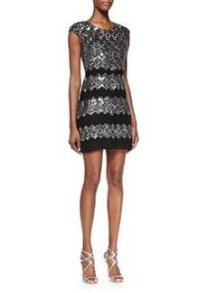 Gina Embellished Metallic Fitted Dress   Gina Embellished Metallic Fitted Dress