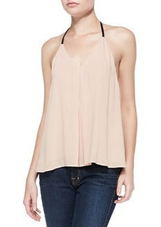 Guenda Leather-Strap T-Back Tank   Guenda Leather-Strap T-Back Tank