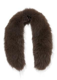 Izzy Fox Fur Collar, Brown   Izzy Fox Fur Collar, Brown