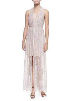 Julissa Halter-Neck Gathered Lace Dress   Julissa Halter-Neck Gathered Lace Dress