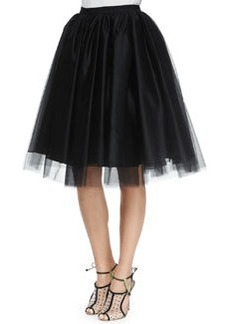 Alice + Olivia Justina Tulle Skirt, Black