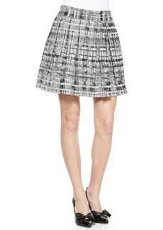 Kayla Printed Box Pleat Skirt   Kayla Printed Box Pleat Skirt