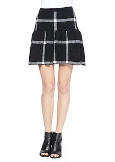 Kimbra Checkered Dropped-Waist Skirt   Kimbra Checkered Dropped-Waist Skirt