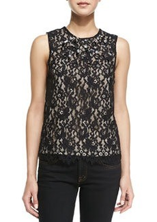 Laika Jewel-Encrusted Lace Top   Laika Jewel-Encrusted Lace Top