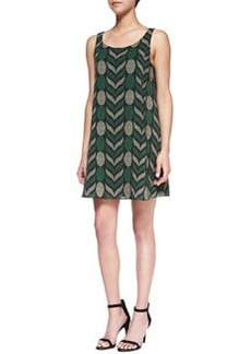 Lana Geometric-Print Voile Dress   Lana Geometric-Print Voile Dress