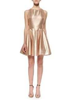 Lia Metallic Open-Back Dress   Lia Metallic Open-Back Dress