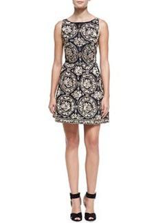 Lilyanne Embroidered Open-Back Dress   Lilyanne Embroidered Open-Back Dress
