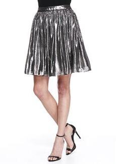 Lizzie Metallic Pleated Full Skirt, Silver   Lizzie Metallic Pleated Full Skirt, Silver
