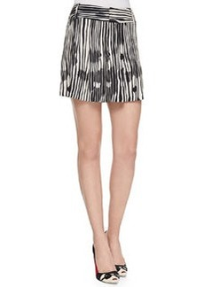 Long Printed Wide-Leg Shorts   Long Printed Wide-Leg Shorts