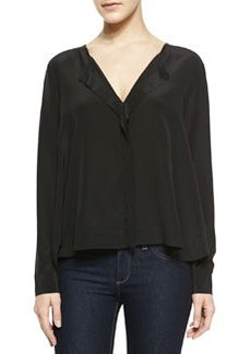 Long-Sleeve V-Neck Top   Long-Sleeve V-Neck Top